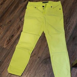Bright green/yellow Rock Republic ankle jean